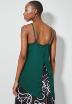 Superbalist - Square neck longline cami - forest green