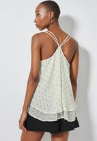 Superbalist - Double layer strappy cami - neutral & black