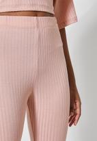 Superbalist - Rib cycle shorts - blush pink