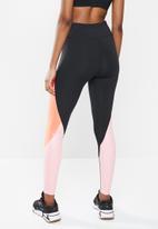 PUMA - Train tights - pearly peach & black