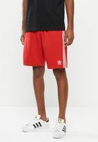adidas Originals - 3 Stripe shorts - red