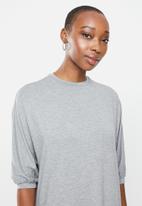 edit - Conscious knit batwing dress - grey