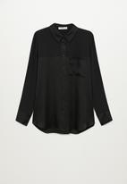 MANGO - Shirt bima - black