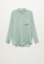 MANGO - Shirt bima - green