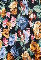 edit - Cotton poplin full skirt - multi