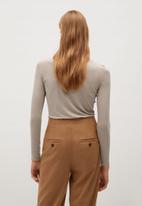 MANGO - T-shirt agna - medium brown
