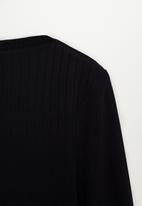 MANGO - T-shirt agna - black