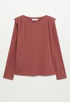MANGO - T-shirt alanis - rust