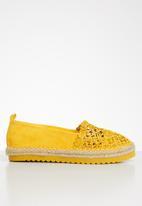Seduction - Crochet espadrille - mustard
