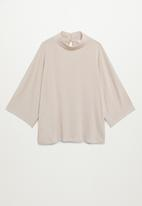 MANGO - T-shirt carol - light beige