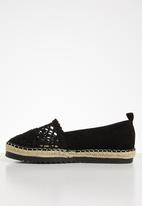 Seduction - Crochet espadrille - black