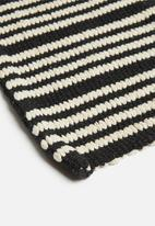 Sixth Floor - Natural woven placemat set of 6 - natural & black