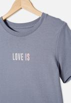 Free by Cotton On - Girls classic tee - grey