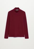 MANGO - T-shirt lilo - dark red