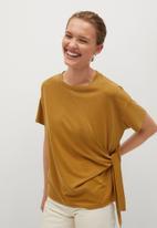 MANGO - T-shirt modal - medium yellow