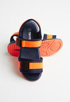 POP CANDY - Boys wjk sandal - navy & orange