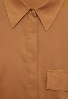 MANGO - Shirt sal - brown