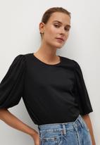 MANGO - T-shirt vega - black