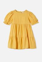 Cotton On - Joy short sleeve dress - yellow