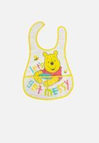 Character Group - Winnie the pooh catcher bib - white