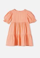 Cotton On - Joy short sleeve dress - orange
