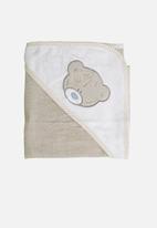 Character Group - Tiny tatty teddy hooded towel - grey