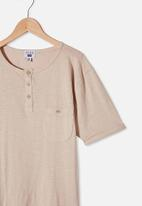 Free by Cotton On - Boys henley tee - rainy day