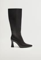 MANGO - Fona leather boot - black