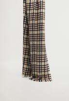 MANGO - Oban scarf - dark brown