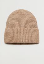 MANGO - Hat bea - brown