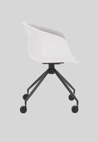 Sixth Floor - Bea soft office chair - light grey