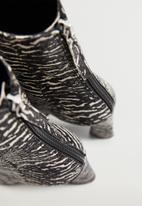 MANGO - Juno leather ankle boot - black
