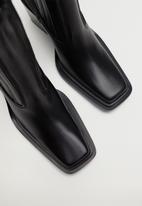 MANGO - Marlon leather ankle boot - black