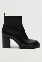 MANGO - German ankle boot - black