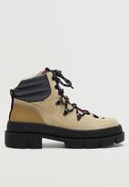 MANGO - Hill leather boot - light beige