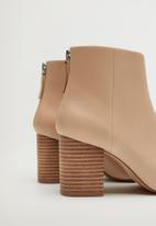 MANGO - Alba leather ankle boot - light / pastel pink