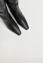 MANGO - Fuego leather boot - black