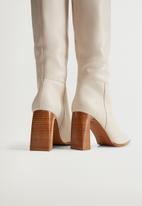 MANGO - Salma leather boot - natural