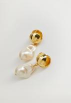 MANGO - Earrings olivias - gold