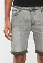 Aca Joe - Aca joe styled denim shorts - light grey