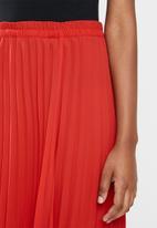 ONLY - Stina maxi skirt - red & black