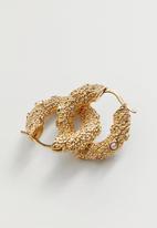 MANGO - Earrings emily - gold