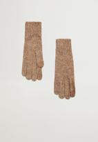 MANGO - Gloves beatriz - brown