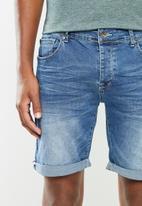 Aca Joe - Aca joe styled denim shorts - blue