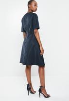 G-Star RAW - Fit & flare dress - mazarine blue