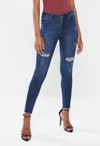 Sissy Boy - Wild heart axel skinny with rips - blue