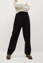 MANGO - Trousers isabel - black