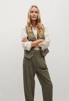 MANGO - Trousers isabel - khaki