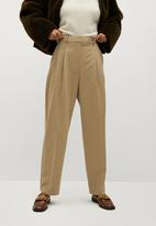 MANGO - Trousers isabel - beige