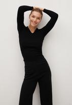 MANGO - Trousers blocker - black